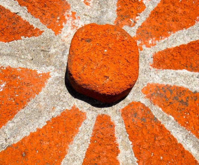Orange Stone Sun